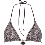 Watercult Afro Gem Triangle Bikinitop Black Canvas