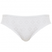 Panache Swim Anya Crochet Bikinibroekje White