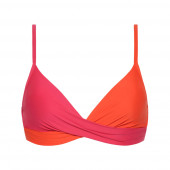 Beachlife Bright Rose Twist Bikinitop