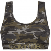Calvin Klein Bralette Camo Black