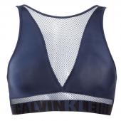 Calvin Klein High Neck Bralette Blue Shadow