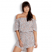 Seafolly Caribbean Ditsy Playsuit White