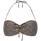 Beachlife Cheetah Bandeau Bikinitop Taupe