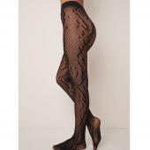 Wolford Crossband Net Panty Black