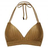 Beachlife Dull Gold Padded Triangle Bikinitop