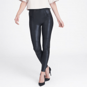 Spanx Faux Leather Zip Detail Legging Very Black