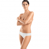 Hanro Invisible Cotton Brazilian Slip White
