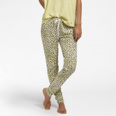Cyell Sleepwear Leopard Lange Pyjamabroek Yellow