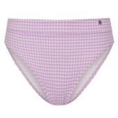 Beachlife Lilac Check High Waist bikinibroekje