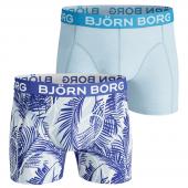 Bjorn Borg Miami Tennis 2-Pack Boxershorts Crystal Blue