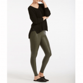 Spanx Ready-to-Wow Faux Leather Corrigerende Legging Rich Olive