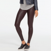 Spanx Ready-to-Wow faux leather legging Wine