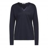 Cyell Sleepwear Solids Navy Pyjamashirt Met Lange Mouwen