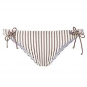 Beachlife Taupe Stripe Bikinibroekje