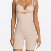 Spanx Thinstincts Targeted Open-Bust Shapesuit Softnude
