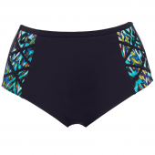 Elomi Swim Tribal Instinct Hoog Bikinibroekje Black