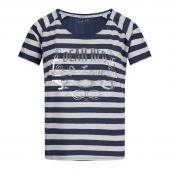 Charlie Choe Under The Sea Pyjamashirt Met Korte Mouwen Navy & Off White