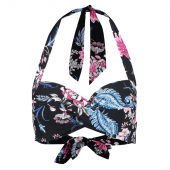 Seafolly Water Garden Halter Bikinitop Blackprint