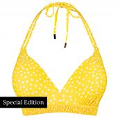 Beachlife Yellow Dot Padded Triangle Bikinitop
